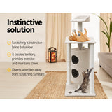 i.Pet 123cm Multi Level Cat Scratching Post - Beige