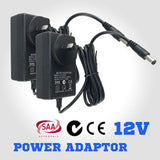 Pair Plug 12V 2A Power Adapter Charger For Battery LED Flashlight AU