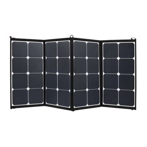 12V 100W FLEXIBLE FOLDING SOLAR PANEL KIT CARAVAN BOAT CAMPING POWER BATTERY