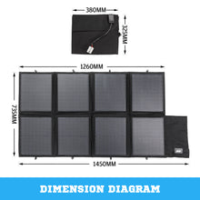 Load image into Gallery viewer, 12V 160W Folding Solar Panel Kit Caravan Boat Camping Power Mono Charging Home