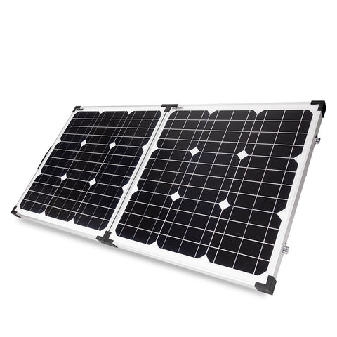 120W 12V Folding Solar Panel Kit Mono Megavolt Camp Power Charging Battery
