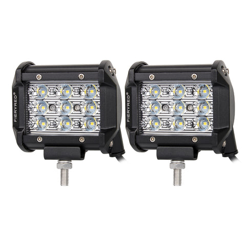 Pair 4inch Philips LED Work Light Bar Spot Driving Lamp Offroad 4WD Ford SUV ATV