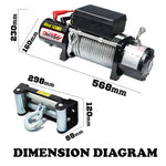 12V 14500LBS STEEL CABLE ELECTRIC WINCH WIRELESS REMOTE 4WD TRUCK OFFROAD 6577KG