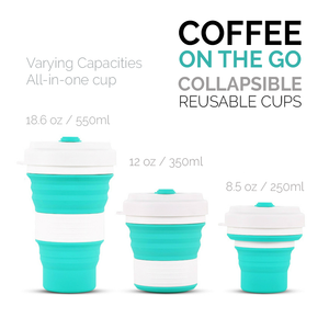 Coffee On The Go - Collapsible Silicone Cup