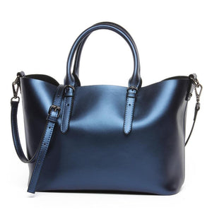Luxury Metalic Leather Handbag