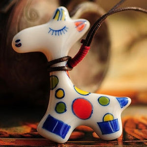 Handmade Ceramic Creature Pendants