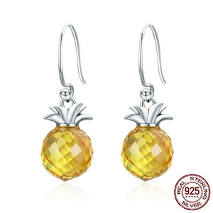 Crystal Pineapple Drop Earrings