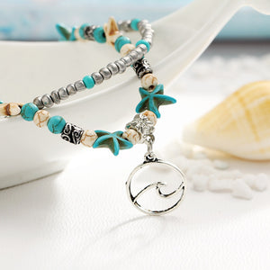 Boho Seaside Double Layer Anklets