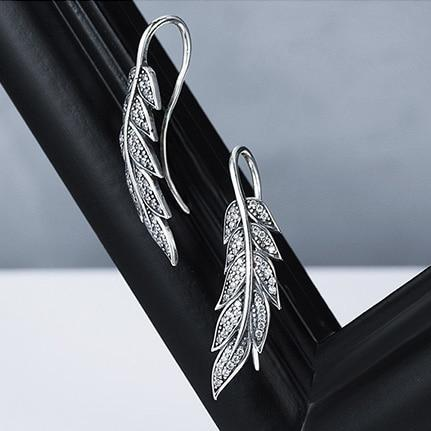 Angels Wings Drop Earrings