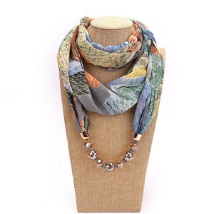 Chiffon Champagne Necklace Scarf
