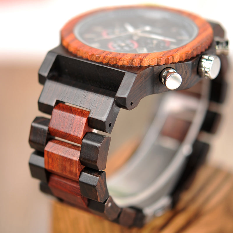 Large Mens Eco Wooden Chronograph