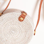 Beachy White Wicker Bag