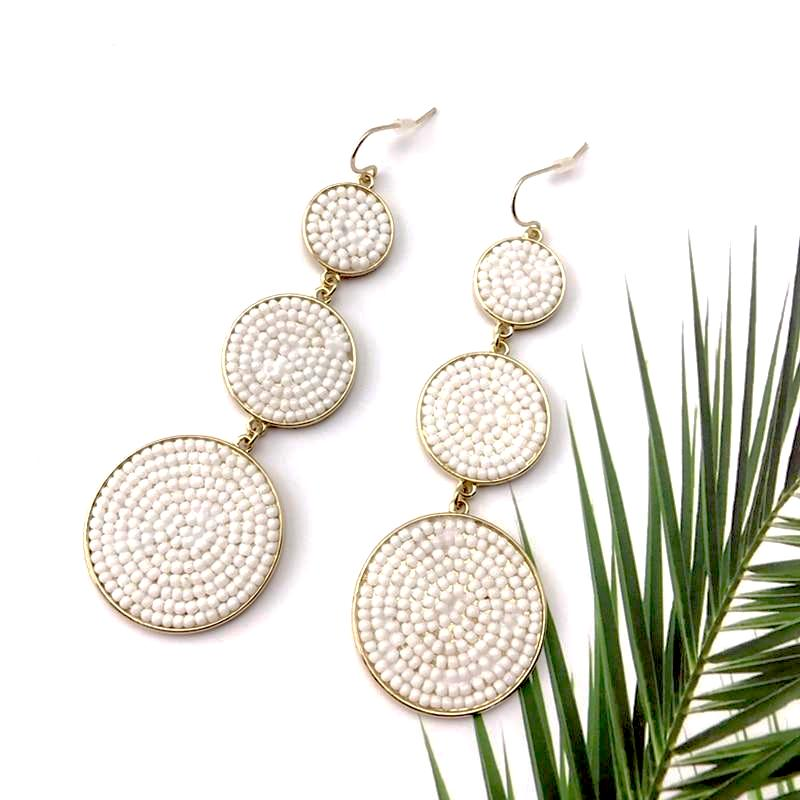 Beach Seed Cascade Earrings