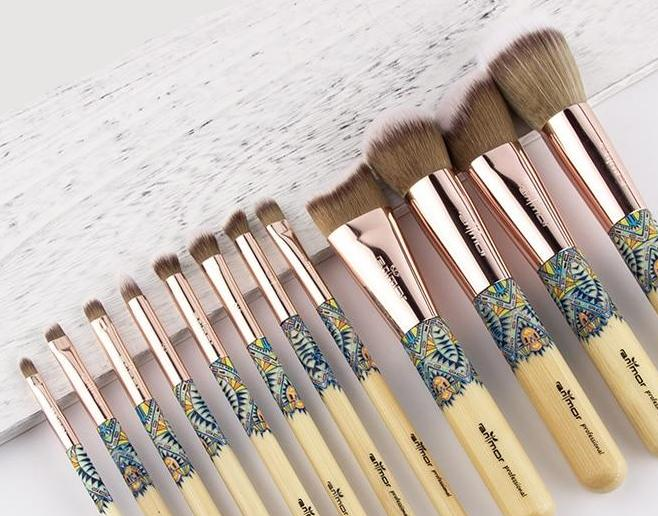 Eco Bamboo Makeup Brush 12piece Set