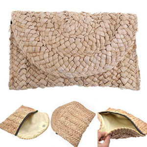 Boho Bamboo Beach Clutch
