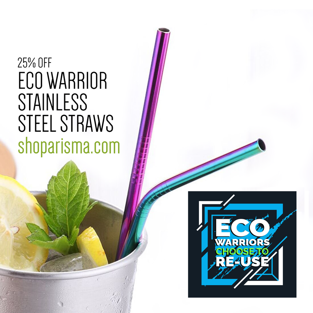 Eco Warrior Reusable Stainless Steel Straws SALE 25%+ OFF