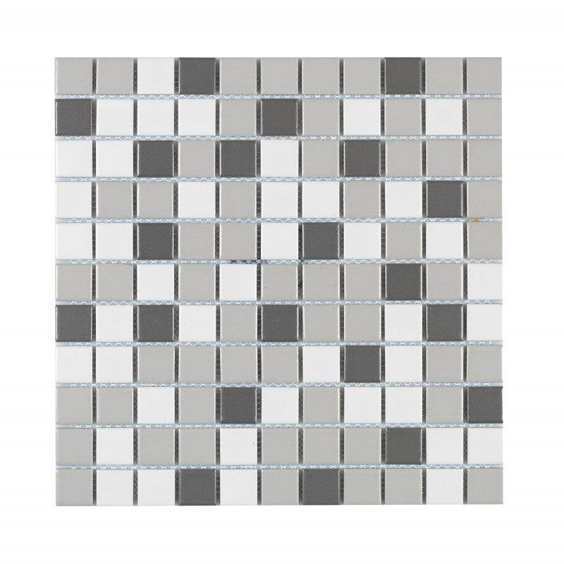 Titan Mix Grey Matt Mosaik 25x25 mm (300x300 mm)
