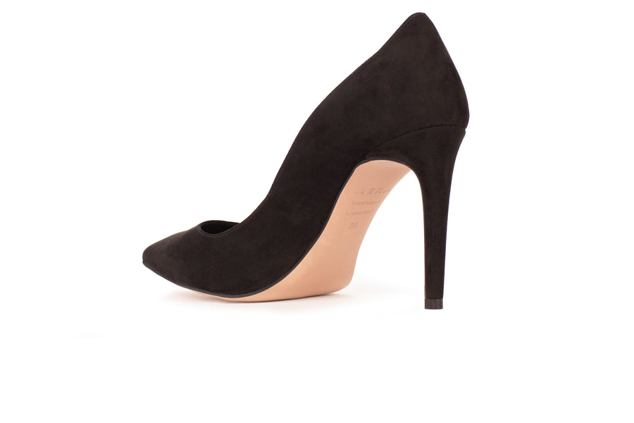 Olivia Black Suede-Effect Vegan Pump