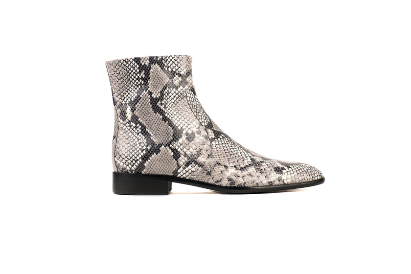 Franky Natural Python-Effect Vegan Boot