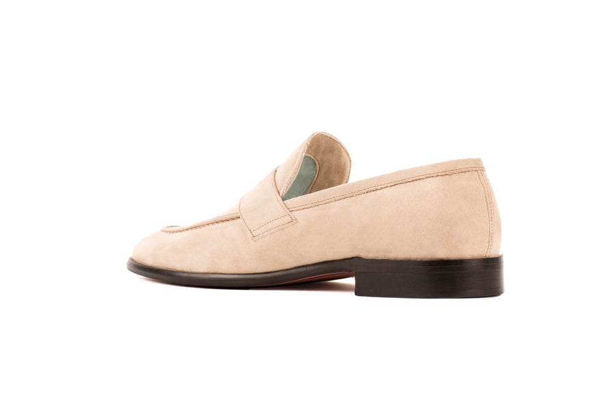 Alvertos Beige Suede-Effect Vegan Loafer