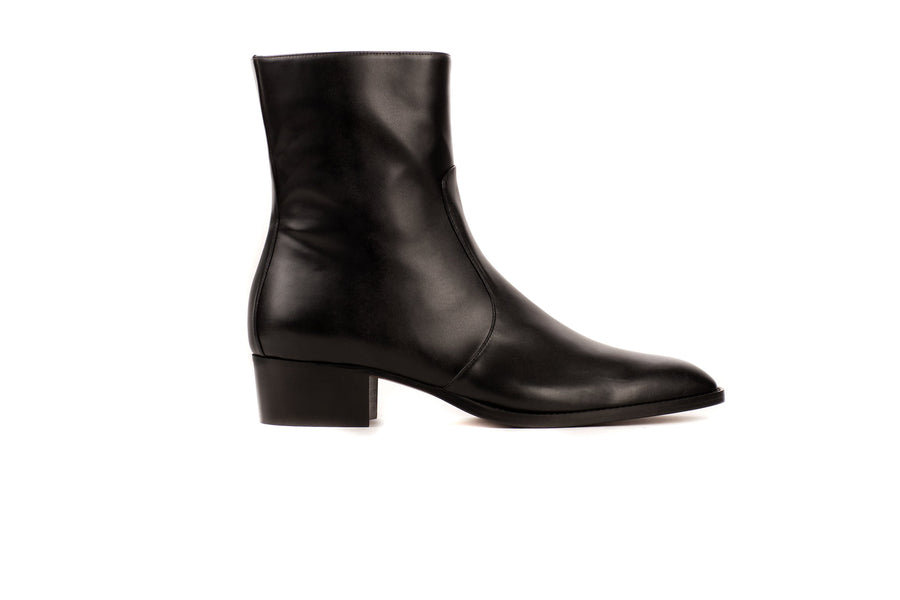 JeanMi Black Calf-Effect Vegan Boot