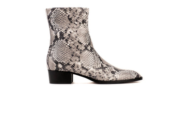 JeanMi Natural Python-Effect Vegan Boot