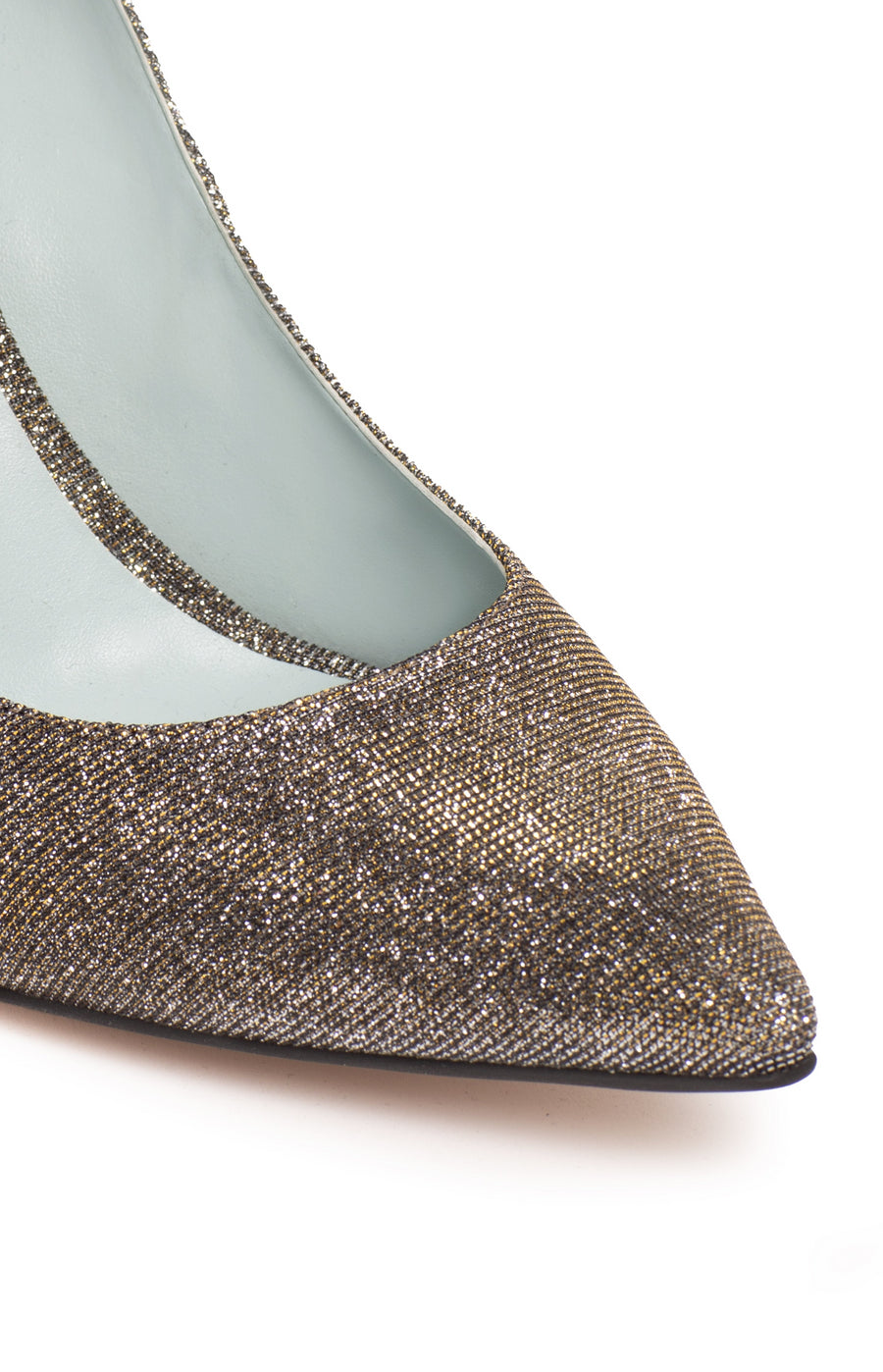 Olivia Metallic Lurex Vegan Pump