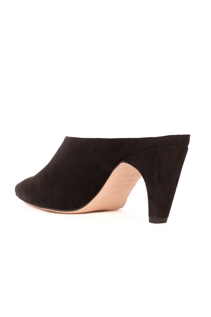 Blondie Black Suede-Effect Vegan Mule