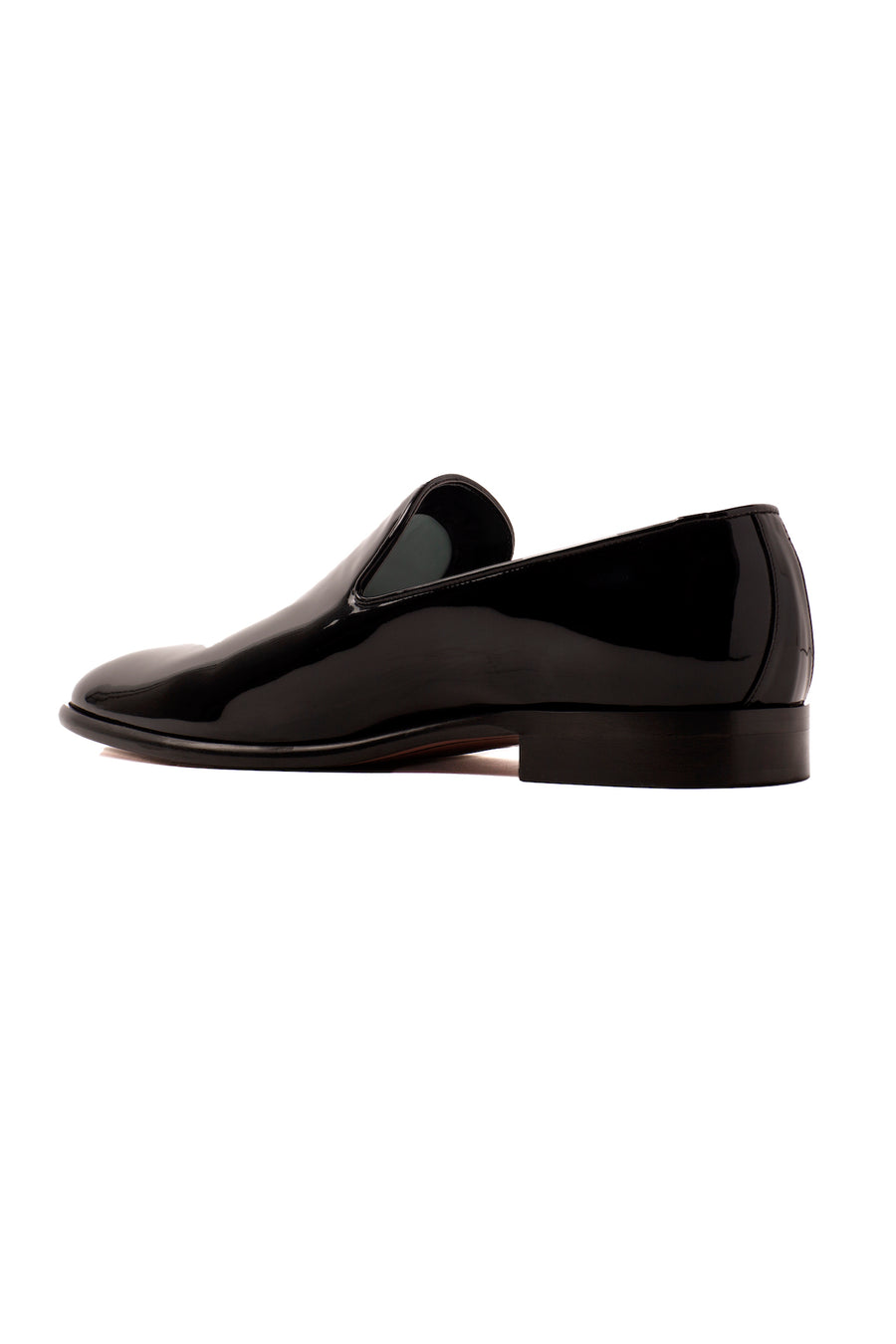 Dylan Black Patent-Effect Vegan Loafer