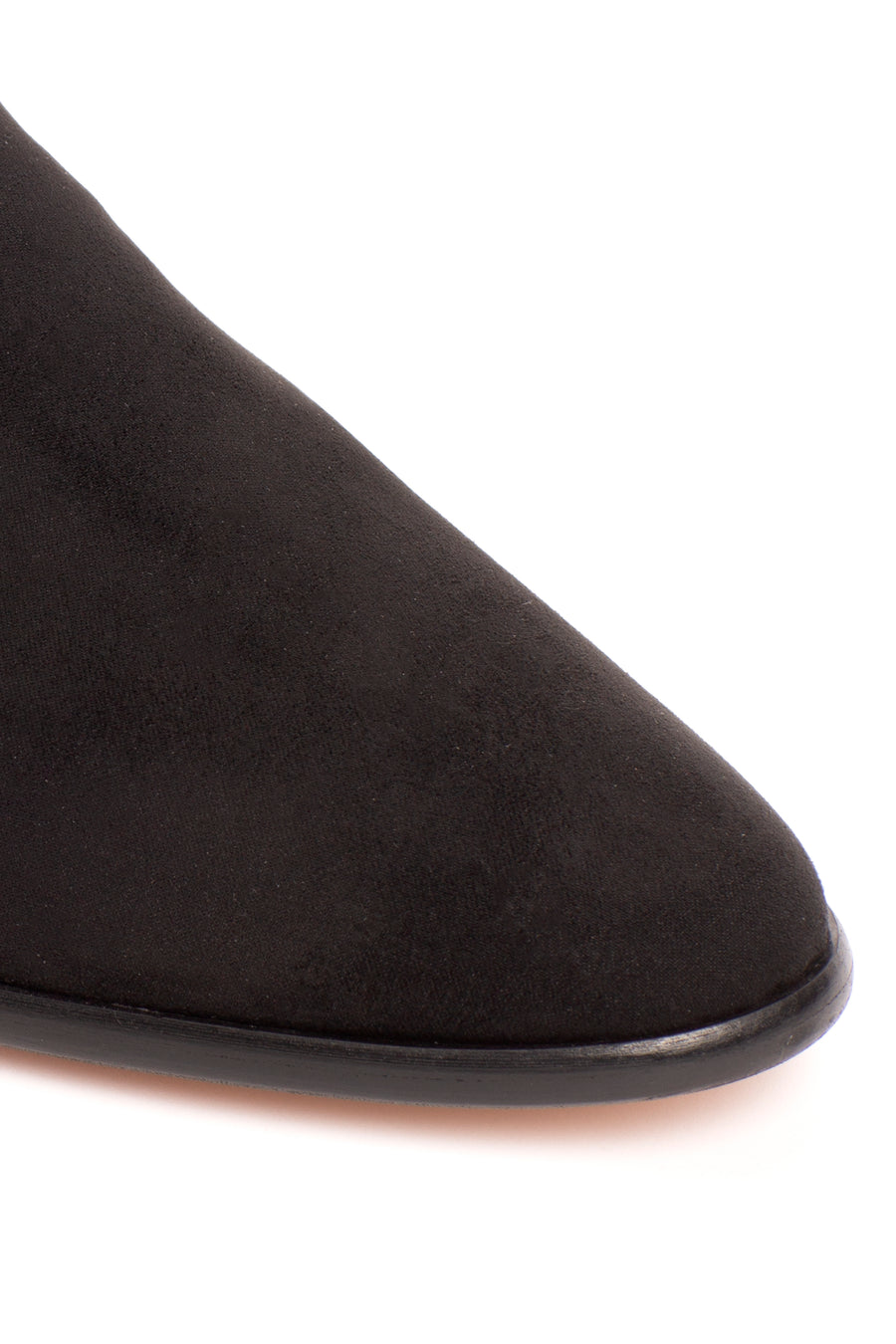 Tina Black Suede-Effect Vegan Loafers