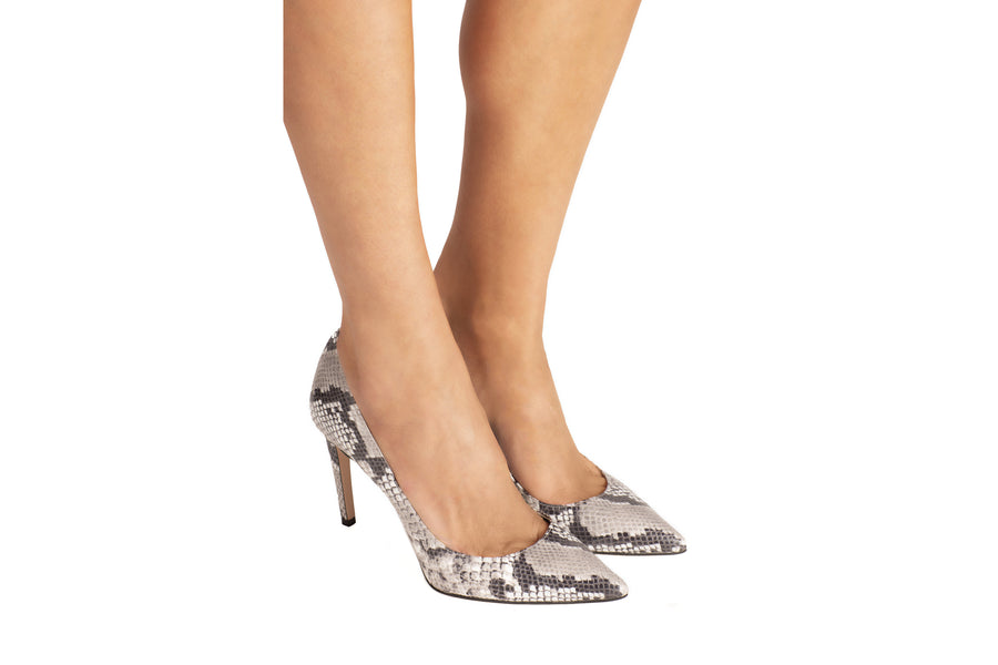 Olivia Natural Python-Effect Vegan Pump