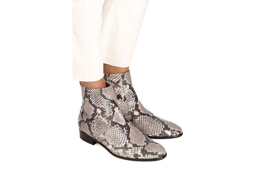 Charli Natural Python-Effect Vegan Boot