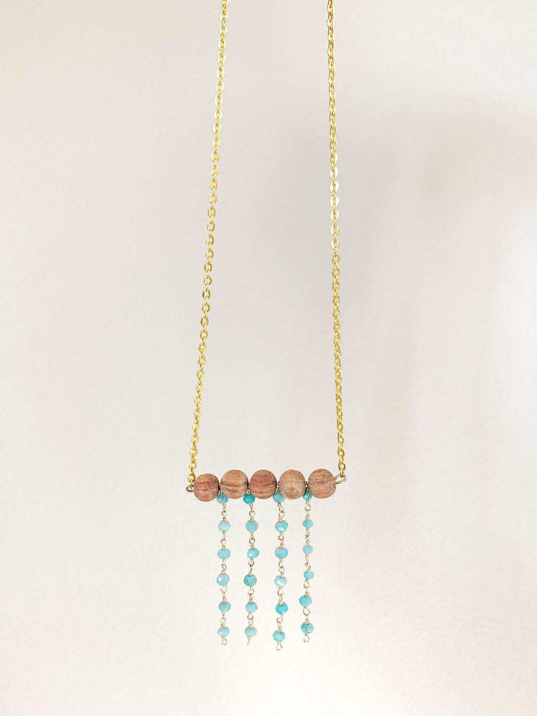 Bayong + Amazonite Diffuser Necklace