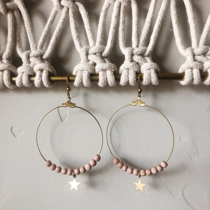 Brass Star Diffuser Earrings