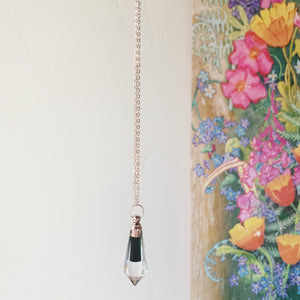 Rose Gold Clear Quartz Vial Necklace (Limited Batch)