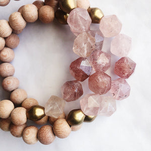 Chunky Strawberry Quartz Diffuser Bracelet