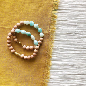 Amazonite Nugget + Brass Diffuser Bracelet (Limited Batch)