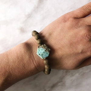 Larimar + Greywood Diffuser Bracelet (Limited Batch Size 7 to 7 1/4in)