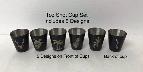 Festival Special- Set of 5 shot cups