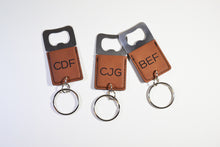 Load image into Gallery viewer, Leatherette Keychain with Bottle Opener