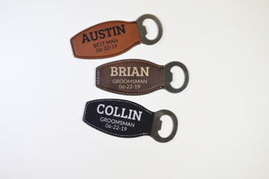 Leatherette Bottle Opener