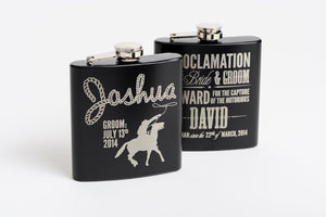 Flask Gift Box with Silver Shot Cups