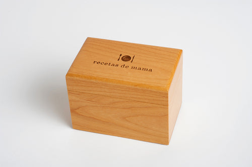 Wood Recipe Box