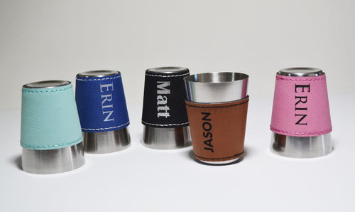 Leatherette Shot Cups