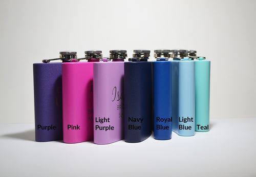 Colorful Stainless Steel 6 ounce Flask (all colors)