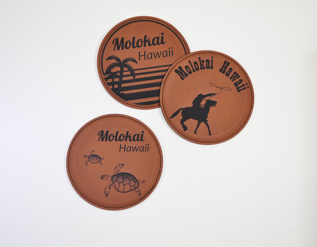 Leatherette Round Coasters