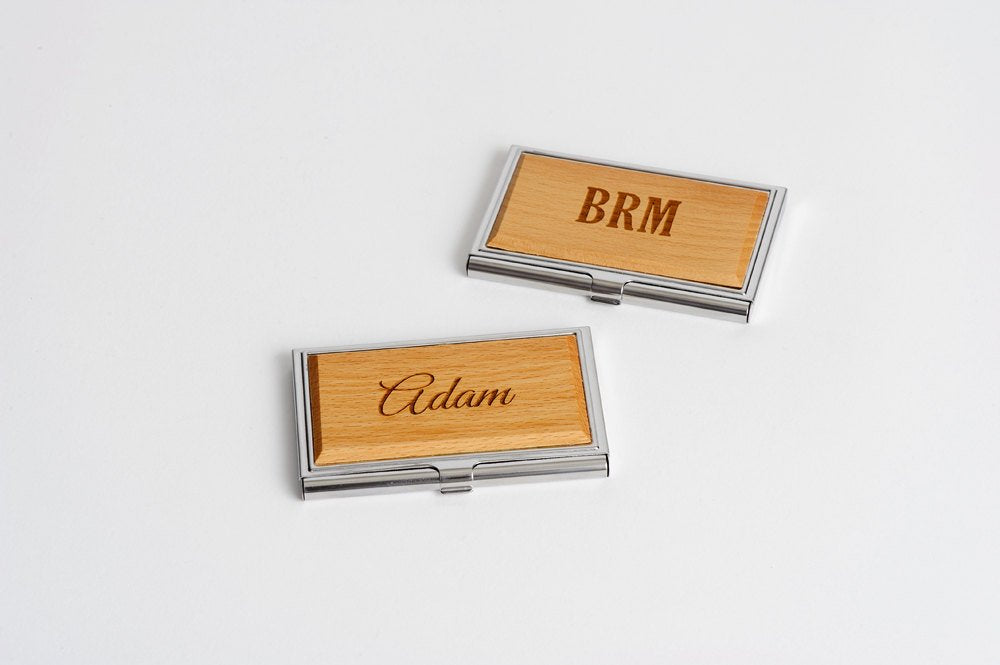 Metal/Wood Business Card Case