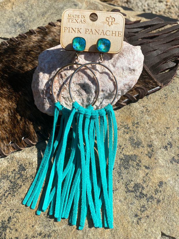 The Turquoise Fringe Earrings