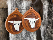 Hand crafted leather Earrings
