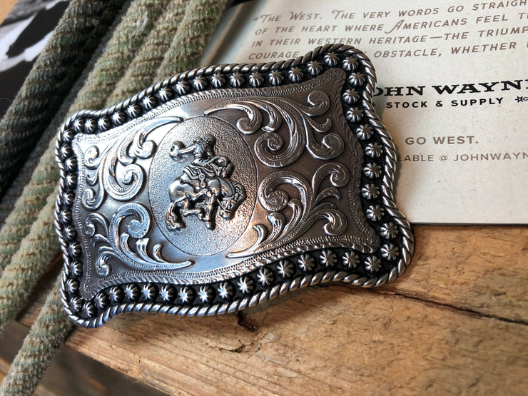 Men's saddle bronc buckle